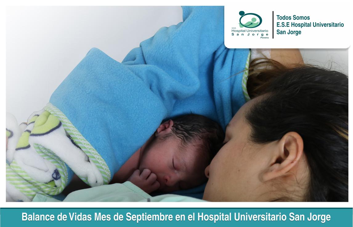 Balance de Vidas Mes de Septiembre en el Hospital Universitario San Jorge 1